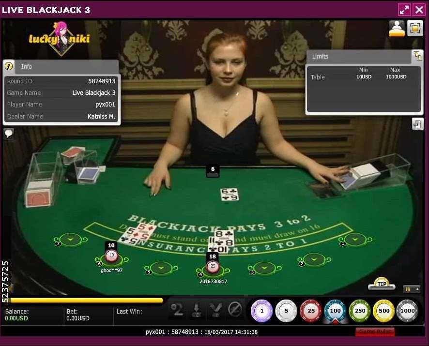 Lucky NikiライブカジノXPro Gaming社のA2