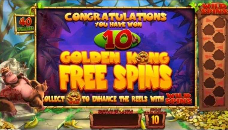 Golden Kong Free Spins2