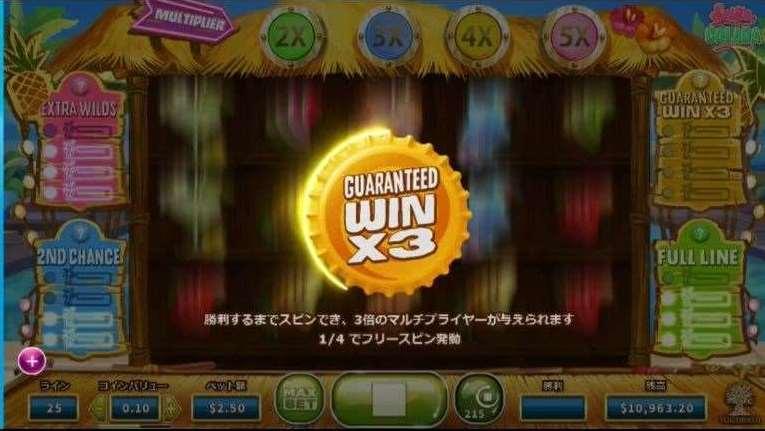 Guaranteed Win X3機能1