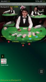 21Betカジノ-モバイルサイト-ログイン後ライブブラックジャックメニュー2