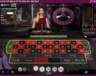 NetEnt Live Vip Roulette Pro