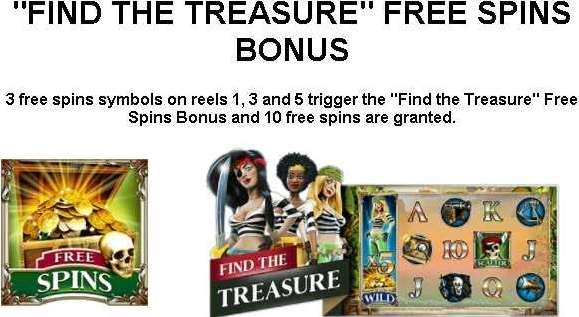 Find The Treasure Free Spins Bonus1