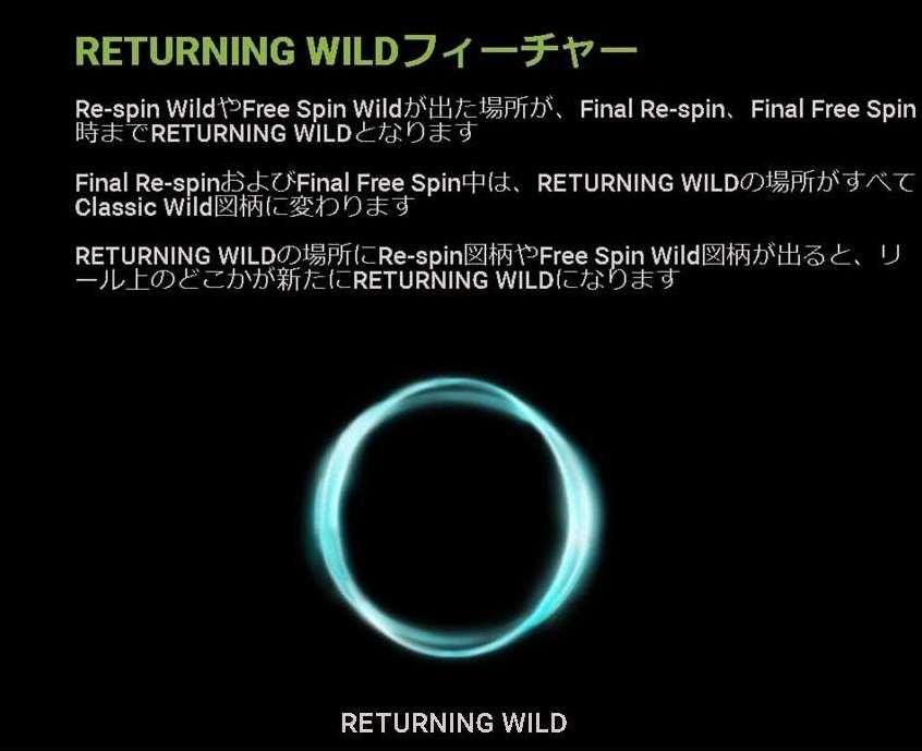 Returning Wild機能