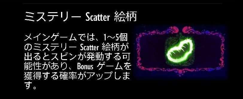 ミステリー Scatter 絵柄