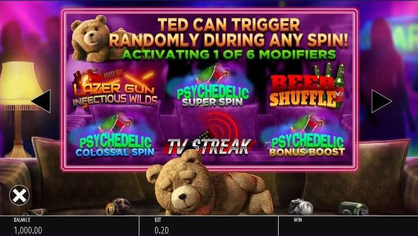 Ted can Trigger Randomly During any spin1